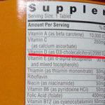 サプリメントのラベルにも注意すべし。ビタミンD